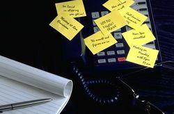 Phone sticky notes